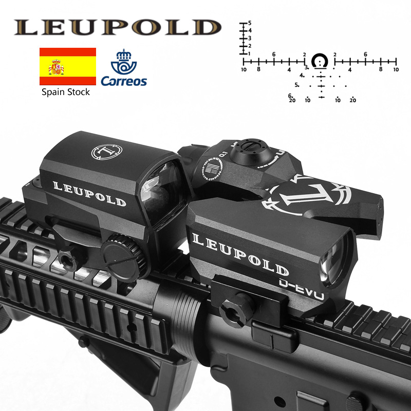 D EVO Dual Enhanced View Optic Reticle Rifle Scope Magnifier with LCO Red Dot Sight Reflex