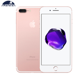 Original desbloqueado apple iphone 7 plus impressão digital 4g celular 5.5 12.12.12.0mp lte celular 3g ram 32g/128g/256g rom quad-core