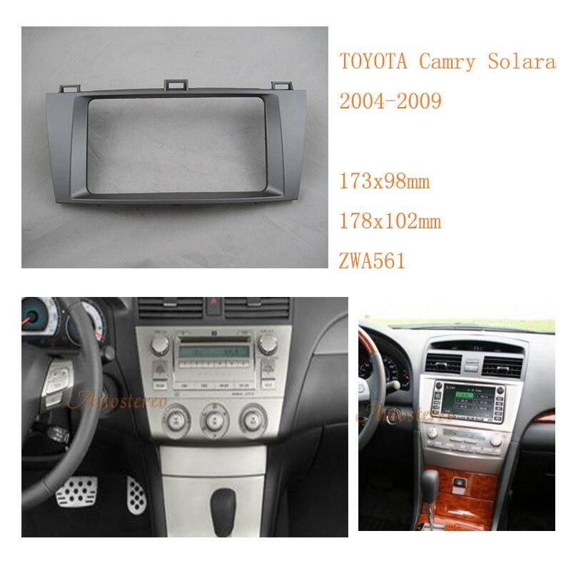 2 DIN стерео комплект для установки автомобилей Радио Фризовая для Toyota Camry Solara 2004-2009 отделка комплект окружении Рамки zw11-561
