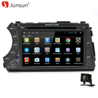 Junsun 2 Din Android 6 0 Car DVD Player 2GB 32GB For SSANG YONG ActYon 2005