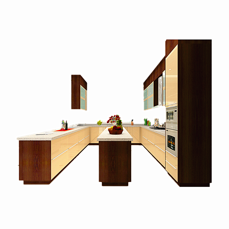 Kitchen Cabinet Budget: New Model MDF Lacquer Cheap Durable Kitchen Cabinet-in