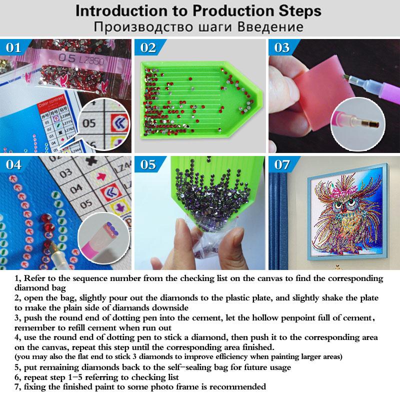 MURAN 3D DIY Алмаз кесте, 5D Алмаз - Өнер, қолөнер және тігін - фото 5