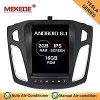 MEKEDE 10,1 дюймов Android 8,1 ips сенсорный экран автомобиля радио для 2011 2012 2013 2014 2015 Ford Focus 2Din головное устройство мультимедийный плеер