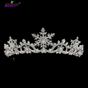 Image 1 - אמיתי אוסטרי גבישי נשים נסיכת פתית שלג נזר כתר כלה חתונה חג המולד שיער תכשיטי אביזרי SHA8756