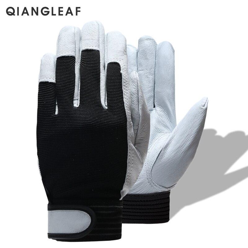QIANGLEAF Marke Heißer Verkauf D Grade Leder Handschuh Arbeit Handschuhe Tragen-beständig Sicherheit Arbeits Handschuhe Männer Handschuh Kostenloser Versand 508