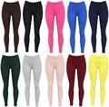 Autumn High Waist Solid  Cotton Skinny Leggings Women Fashion Candy Color Stretch Women Legins