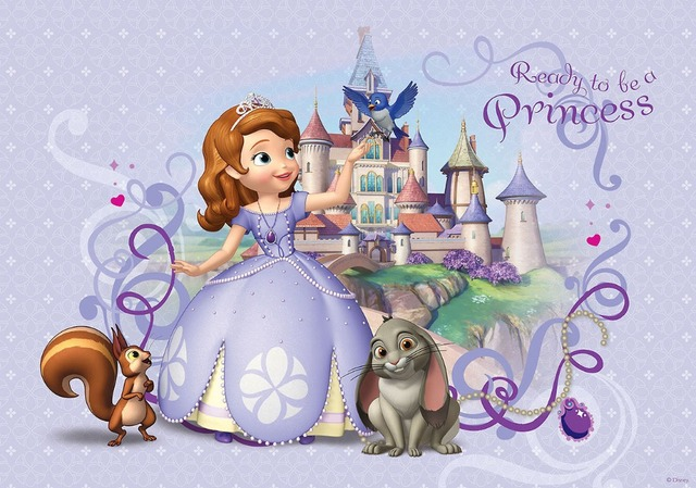 7x5FT Sofia Princess Palace Castle Animal Pets Crown Custom Photo Studio Backdrop Background Vinyl 220cm x 150cm