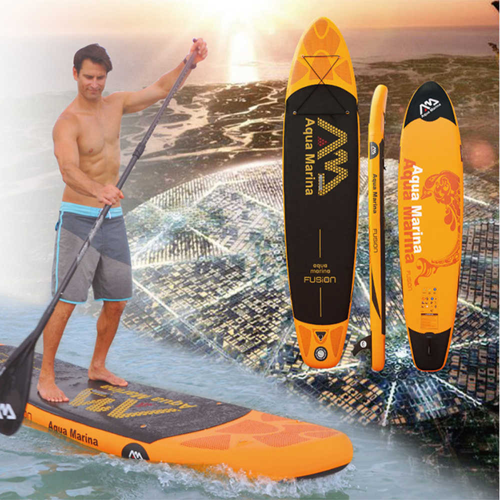 "Aqua Marina Fusion 10'10 ""BT-18FUP Inflatable Papan Selancar Inflatable Surfing Papan Berdiri Dayung Papan Olahraga Air Papan Sup ISUP"