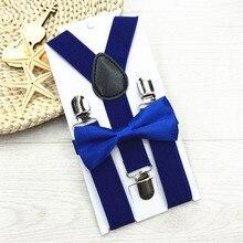 Новинка года; Детские подтяжки с галстуком-бабочкой; комплект с галстуком-бабочкой; 13 цветов; регулируемые и эластичные; Лидер продаж; подтяжки