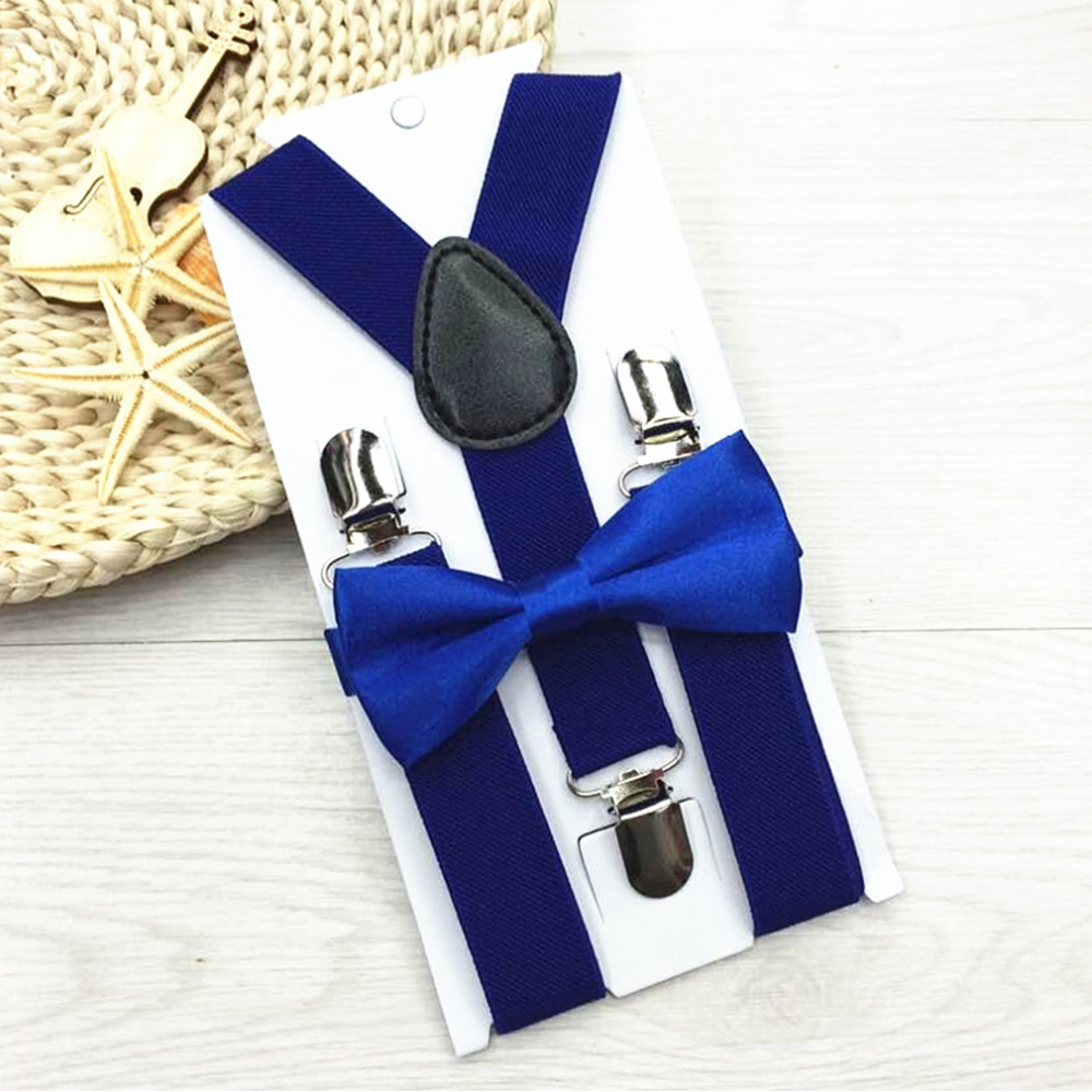 2018 New Kids Suspenders With Bowtie Bow Tie Set Matching Ties Outfits 13 Colors Adjustable and Elasticated Hot Suspender Sale