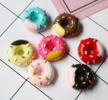 Donut Theme  Resin Accessories Mobile Phone Shell DIY Material Refrigerator Stickers Home Decoration
