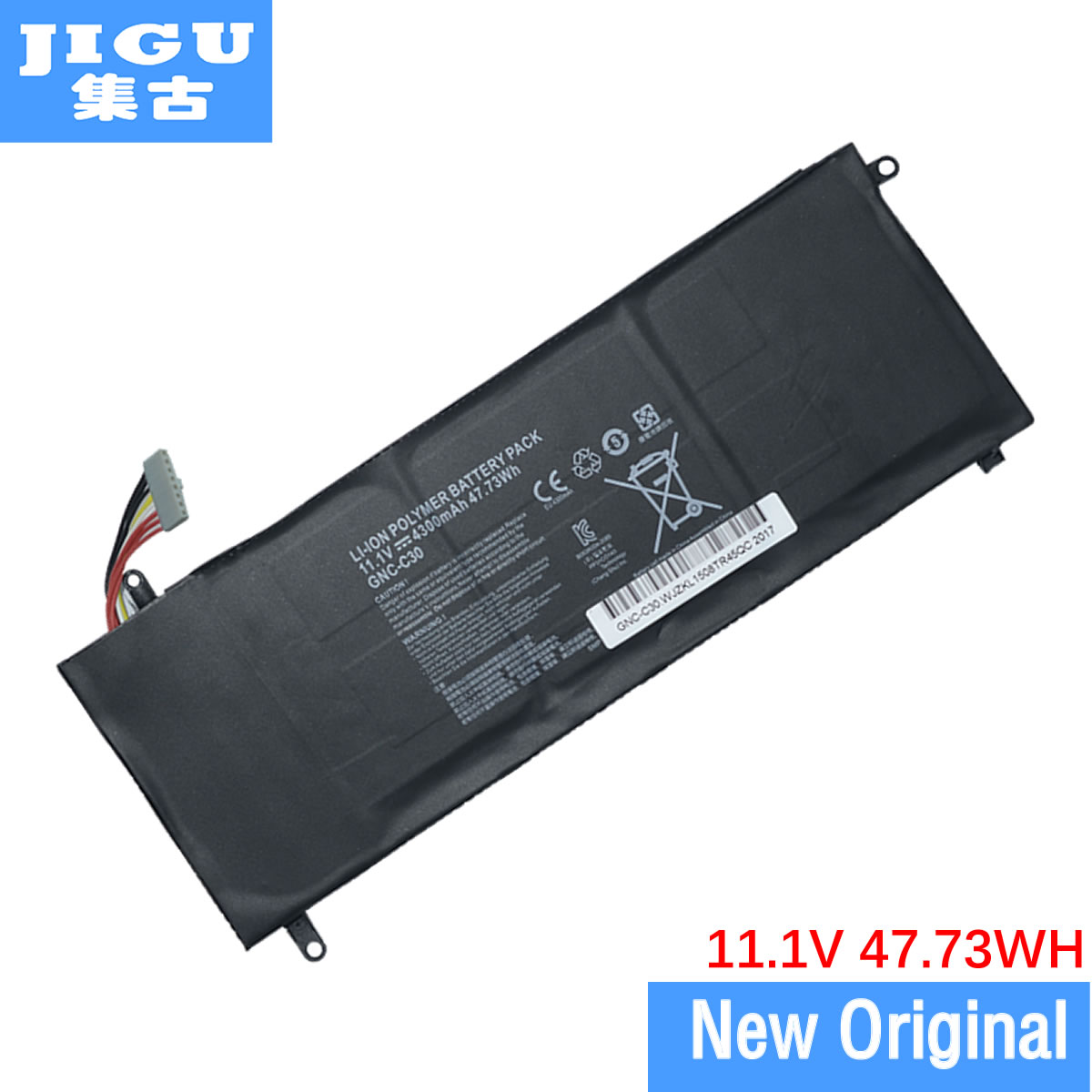 JIGU New 11.1V 4300mAh 47.73Wh Laptop Battery GNC-C30 961TA002F For GIGABYTE U2442 U24F P34G V2 High Quality jigu original laptop battery gns 160 gns i60 961ta010fa for gigabyte p35g v2 p35k p35w v2 p35x v3 p37x v5 p57w p57x v6