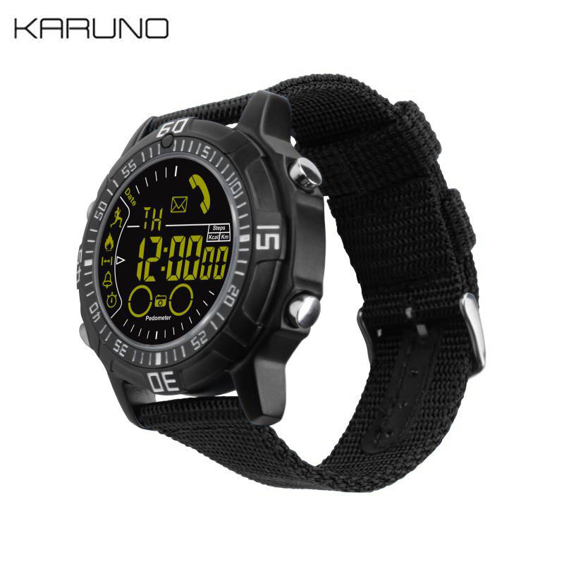 Sports-Watch Waiting-Machine 50-Meters Outdoor Bluetooth Waterproof Android EX28A KARUNO