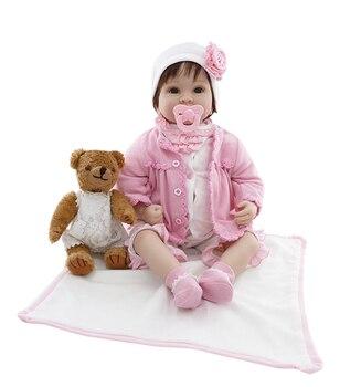 Npkcolección hecha a mano nueva muñeca de bebé reborn con suave PP algodón cuerpo táctil regalo para niñas en Navidad