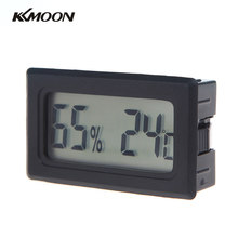 KKMOON Mini Digital LCD Thermometer Hygrometer Humidity Black Temperature Meter Indoor -50 to 70 C(China)