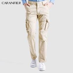 CARANFIER 5 цветов мужские брюки повседневные брюки карго форма модные мужские брюки тактические карманы брюки высокое качество классические