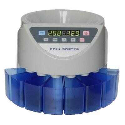 Elettronica selezionatrice di monete moneta macchina di conteggio del contatore su ordine per i paesi di visualizzare il valore e la quantità totale
