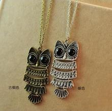 Maxi Necklace Collier $10 (mix Order) Free Shipping New Fashion Korea Adorn Article Owl Necklace Ancient Sweater Chain 24g N46