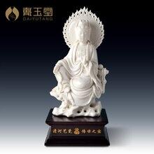 Dai Yutang Dehua porcelain Su Youde master process/7 inch sitting rock Buddha Kwan-Yin D29-11
