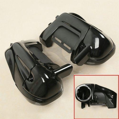 Motorcycle Lower Vented Leg Fairing w 6 5 Speaker Box Pod For Harley Touring Glide FL