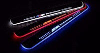 EOsuns Customized LED Moving Door Scuff Nerf Bars Running Boards Door Sill Light Overlays For BMW