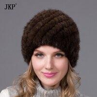 Hot Winter Mink Fur Hat Female Genuine Natural Fur Hat Pineapple Russia Beanie Hat Fashion 2016
