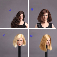 Four Styles 1 6 GC006 European And American Female Head Sculpt With Brown Yellow Long Short