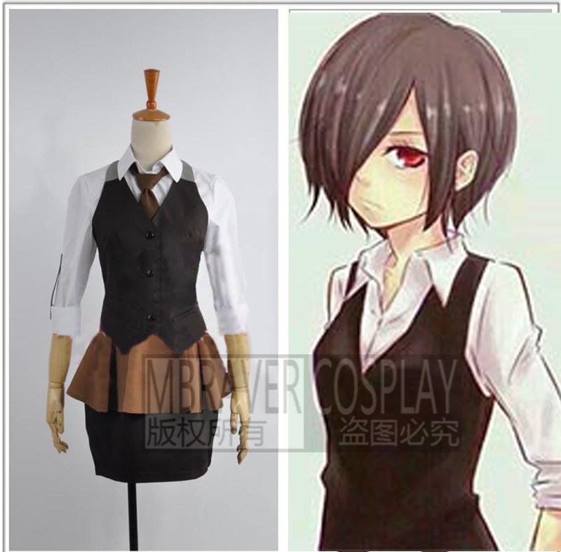 Tokyo Ghoul Touka Kirishima Working Uniform Cosplay Costume Custom Any Size