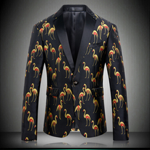 2019 Black Printing Suit Dress Jackets For Men High Quality Designers Wedding Blazers Stage Wear Clothing 8630