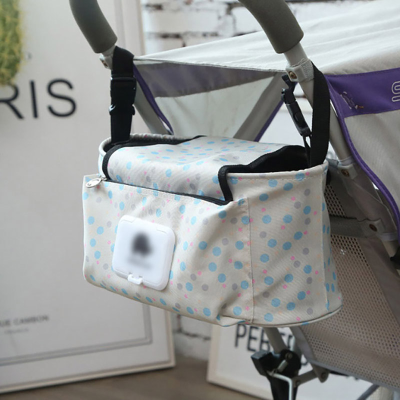 Multifunctional Mummy Bag Baby Nappy Organizer Pouch Stroller Hanging Storage Bag With Shoulder Strap Baby Diaper