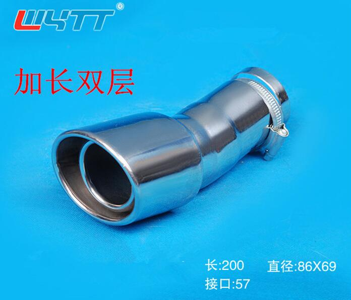 car styling case For peugeot 2008 2014 2015 2016 outlet Burn Tip Stainless Exhaust Muffler fits Car styling