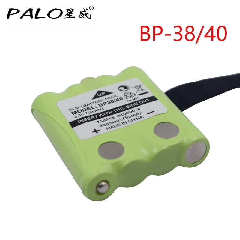 PALO 4.8 v 700 mah NI-MH Bateria Batteria Per Uniden Bt-BP-38 BP-40 BT-1013 BT-537 Per MOTOROLA TLKR T4 T5 T6 t7 T8 GMR FRS batterie