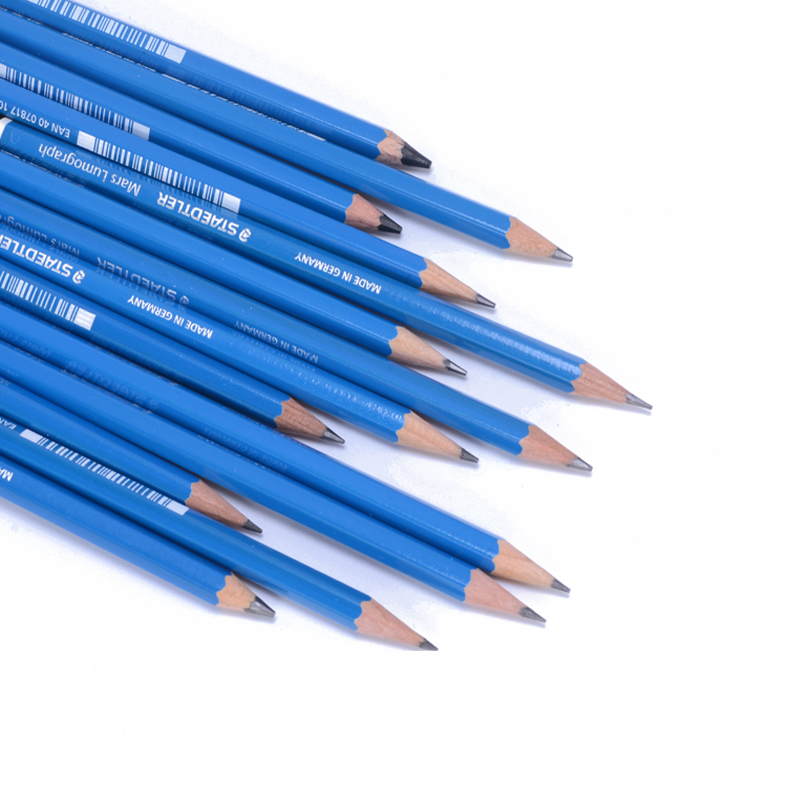 Germany Staedtler 100 Blue Rod Standard Pencil Professional Drawing Sketch Mars Lumograph 12pcs Lot In Pencils From Office