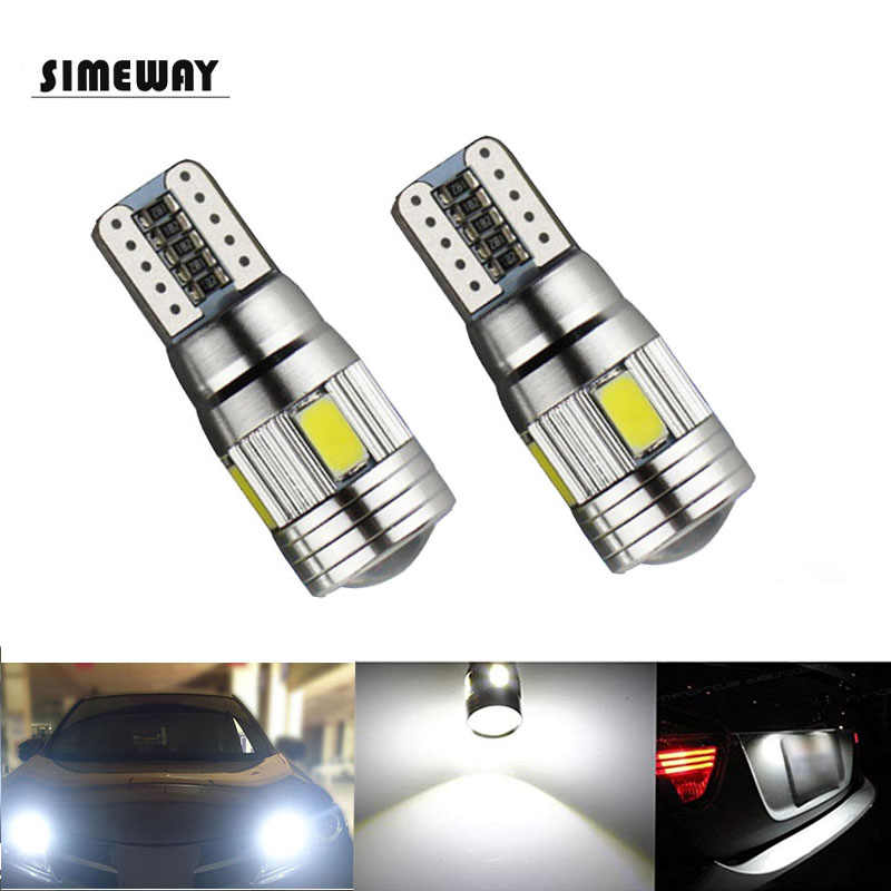 Simeway 2PCS 12V Canbus T10 led W5W 5630 6smd Car LED light Bulbs NO ERROR Clearance Light White Blue T10 Bulbs Replacement