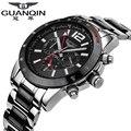 Famous Brand Original GUANQIN Men Mechanical Big Dial Watch Men Luxury Watch Clock Waterproof Wristwatch Relogio Masculino Reloj