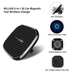 Image 3 - 10W Qi bezprzewodowa ładowarka samochodowa szybka Nillkin 2 W 1 magnetyczny uchwyt samochodowy uchwyt telefonu Pad dla iPhone X/8 + dla Samsung S10/uwaga 10