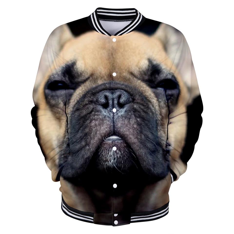 Französisch Bulldog 3d Gedruckt Baseball Jacken Frauen/männer Mode Langarm Jacke 2019 Heißer Verkauf Casual Streetwear Kleidung