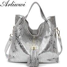 Arliwwi брендовые новые качественные искусственные замшевые классические дизайнерские сумки из натуральной кожи с элегантной кисточкой GB01