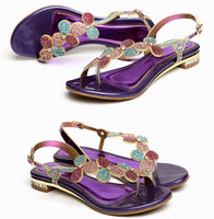 2019 New Style Summer Women girls leather shoes kids Children princess shoes Rhinestone Sandals Flat shoes