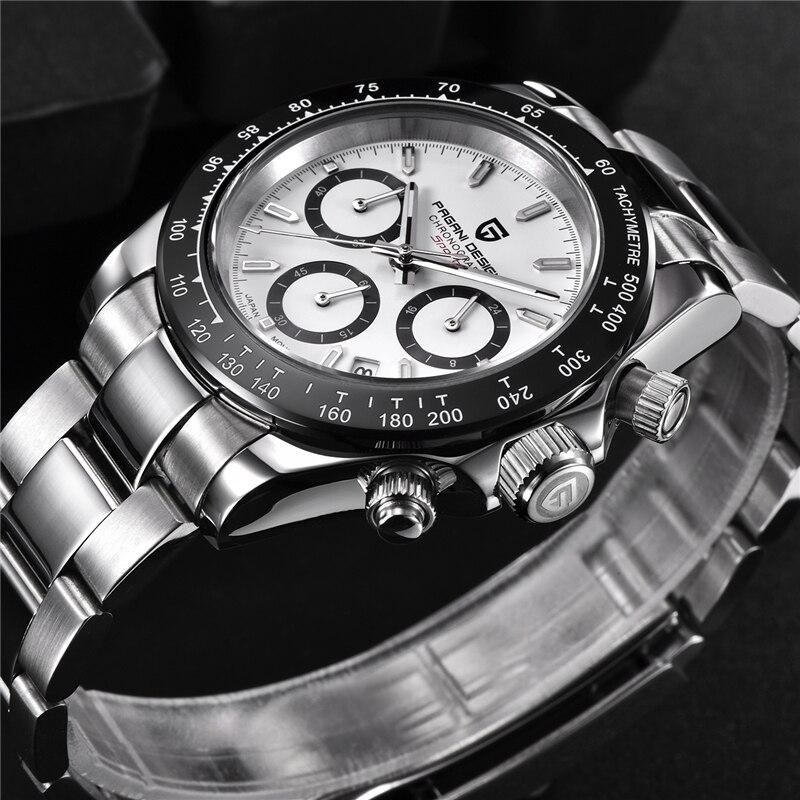 PAGANI DESIGN 2019 nouveau hommes montres Sport Quartz montre hommes en acier étanche horloge mâle mode chronographe Relogio Masculino - 4