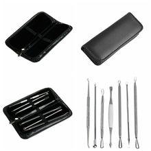 7 PCS Blackhead Pimple Blemish Comedone Acne Extractor Remover Tool Set Kit TF