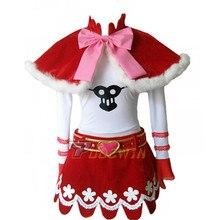 Anime One Piece Perona Princess Mononoke Cosplay Costume 6/lot