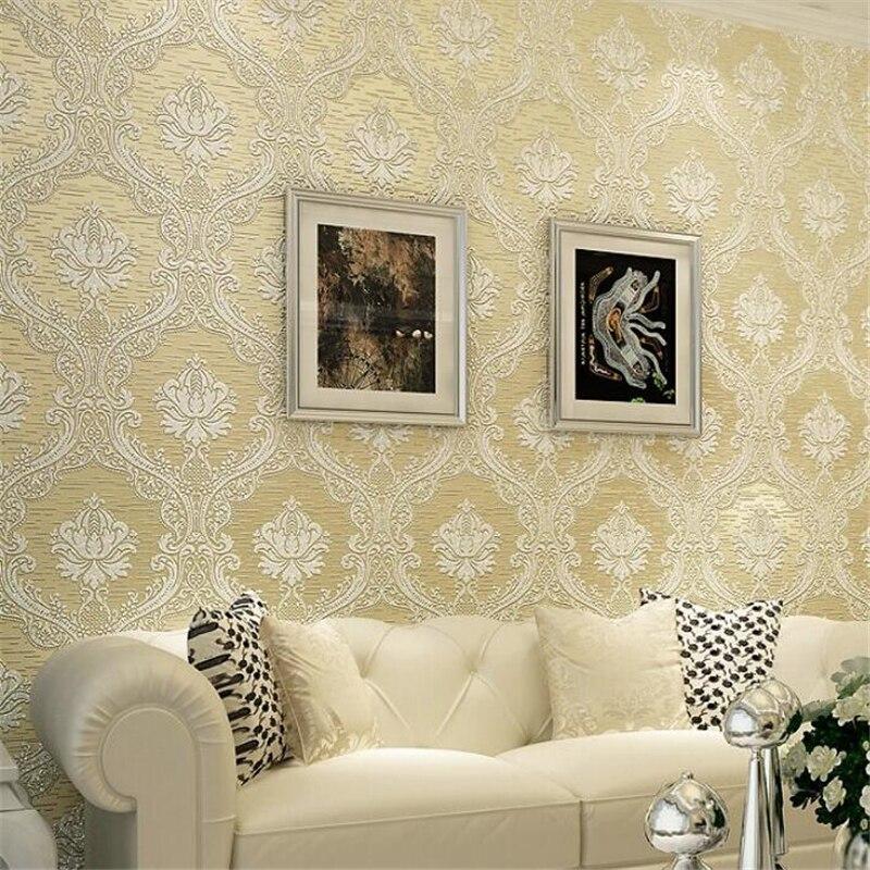 Beibehang Embossed Damascus Papel De Parede 3d Wall Paper Papel De Parede Wallpaper For Living Room Bedroom Tv Sofa Background Special Summer Sale Home Improvement