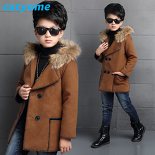 Teens Toddler Wool Dress Coat New Wool Coats For Kids Fashion Hooded Long Bomber Jacket for Baby Boys Children Outerwear Clothes