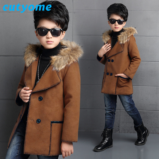 Teens Toddler Wool Dress Coat New Wool Coats For Kids Fashion Hooded Long  Bomber Jacket for Baby Boys Children Outerwear Clothes-in Wool & Blends  from Mother & Kids