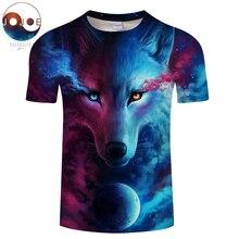 Where Light And Dark Meet by JoJoesart Wolf 3d T shirt Drop Ship Top Tee Short