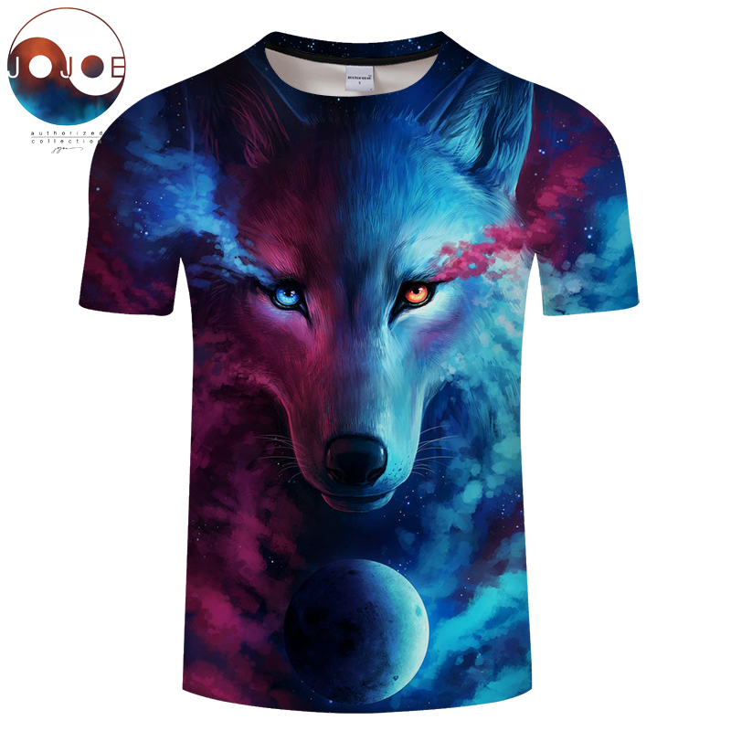 Wo Licht Und Dark Erfüllen durch JoJoesart Wolf 3d T-shirt Drop schiff Top T Kurzarm Camiseta Rundhals T-shirt Mode-t-shirt