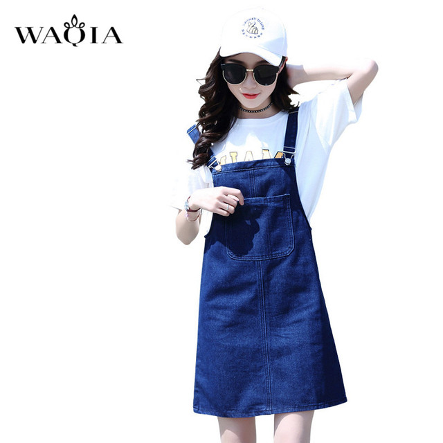 b455916326 Nuevo vestido de las mujeres 2018 Primavera Verano coreano de moda Correa  vestidos vestido con bolsillo