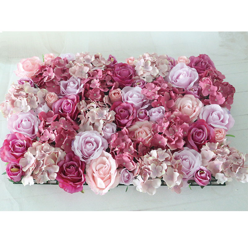 Flone Wedding Decoration Silk Roses Hydrangea Flowers Wall Wedding Background Decoration Arch Flower Row Decoration (4)