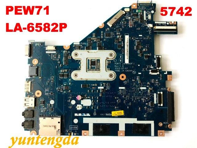 Original para acer 5742z 5742 placa-mãe pew71 LA-6582P testado bom frete grátis conectores